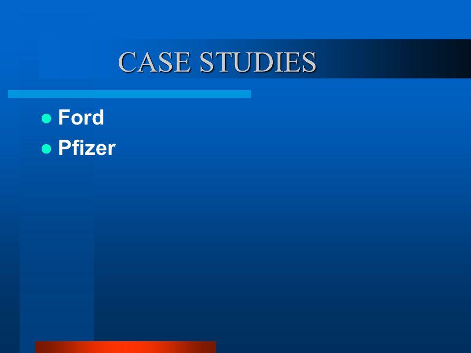CASE STUDIES Ford Pfizer