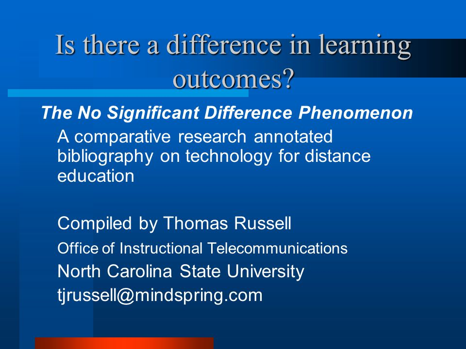 Is there a difference in learning outcomes.