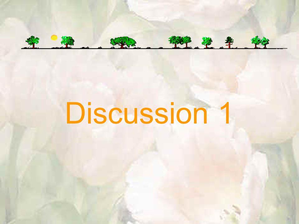 Discussion 1