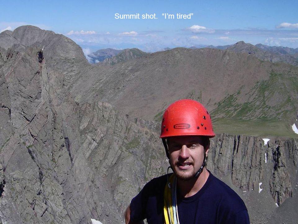 Summit shot. Im tired