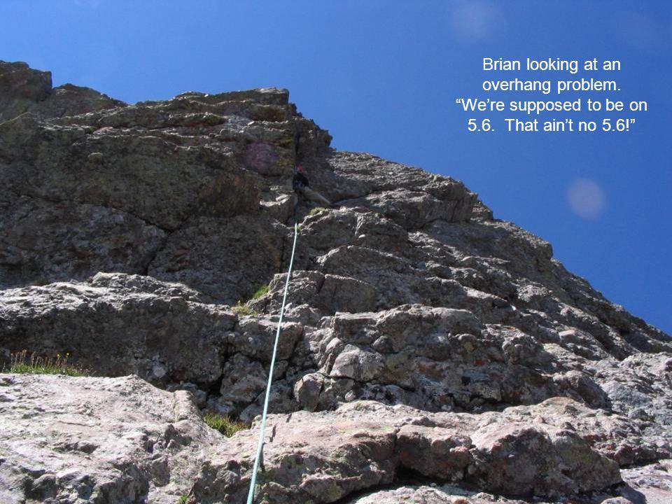 The Headwall. The crux of the climb.