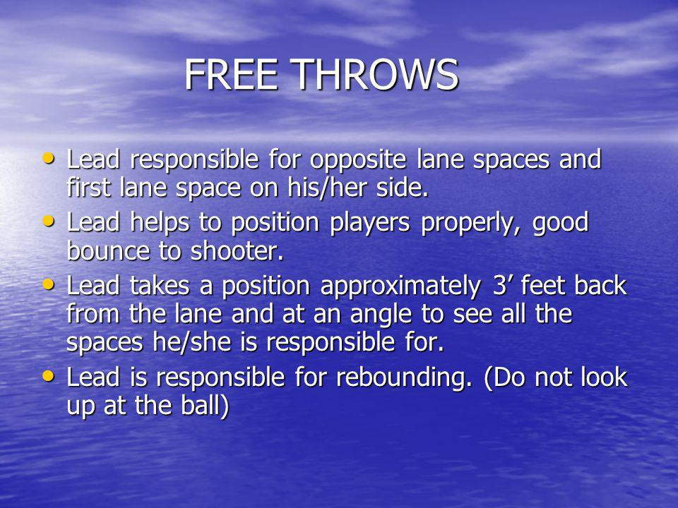FREE THROWS (cont).FREE THROWS (cont).
