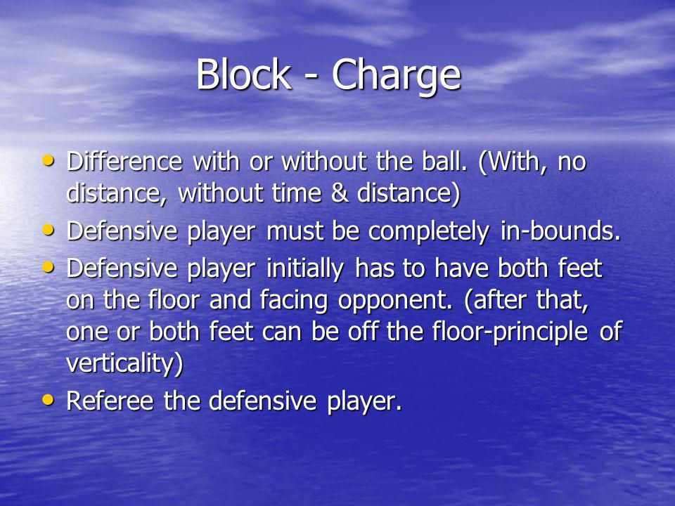 REBOUNDING REBOUNDING Displacement of opponent, offense or defense is a foul.