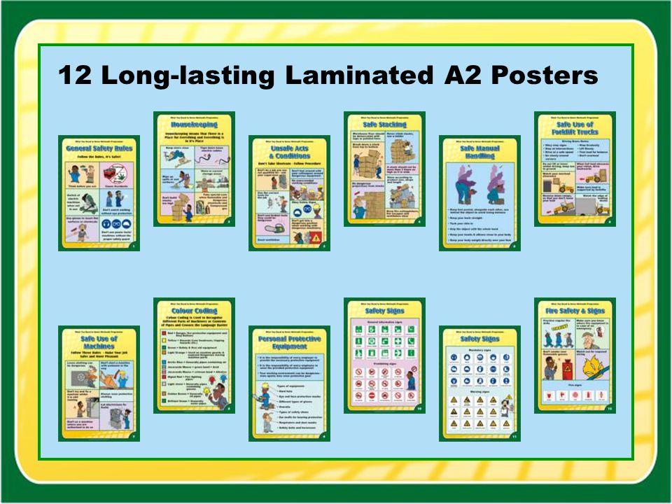 12 Long-lasting Laminated A2 Posters