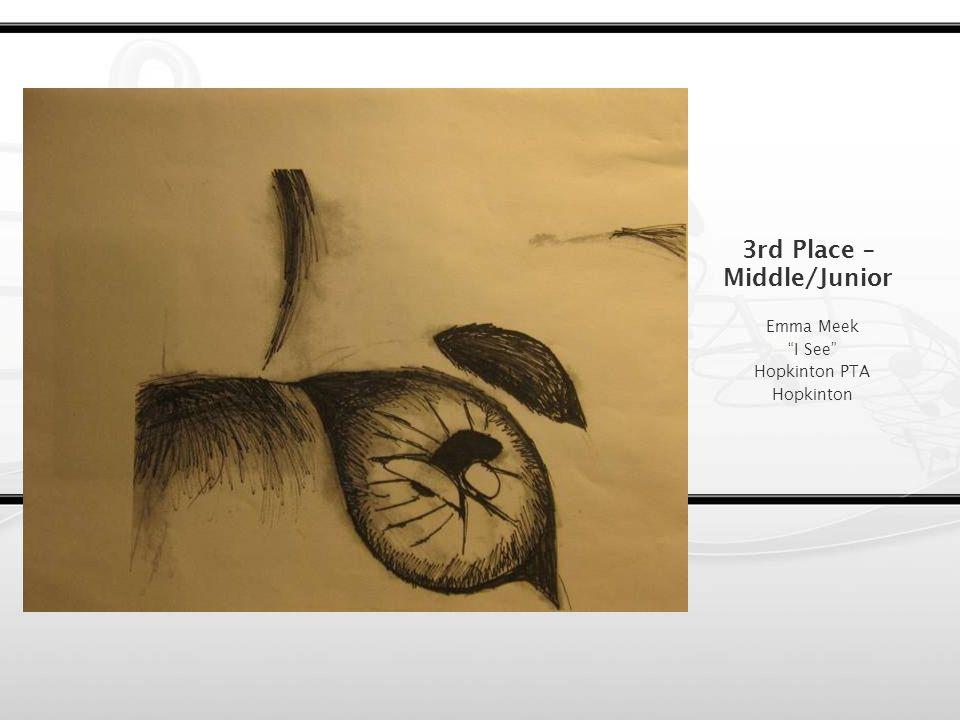 2nd Place – Middle/Junior Grace Ruchala Paradise Bagnall Elementary School PTA Groveland