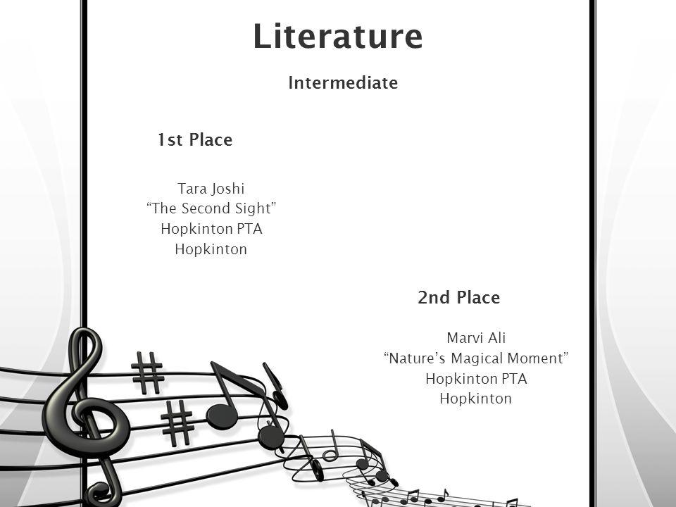 3rd Place – Middle/Junior Emma Meek I See Hopkinton PTA Hopkinton