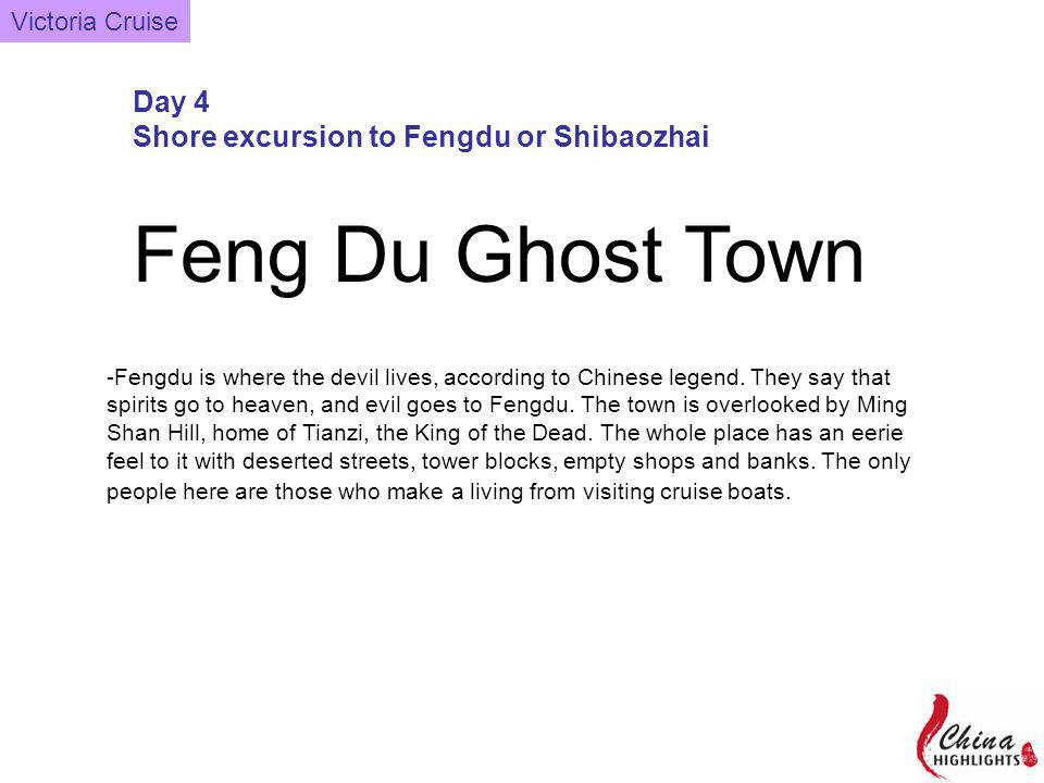 Feng Du Ghost Town -Fengdu is where the devil lives, according to Chinese legend.