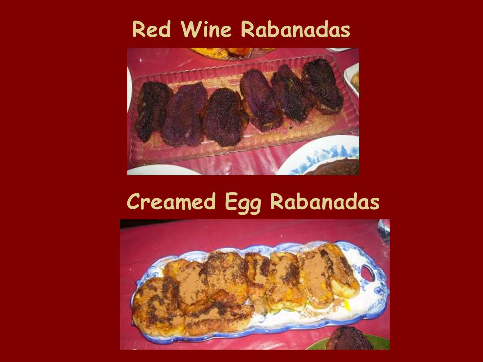 Red Wine Rabanadas Creamed Egg Rabanadas