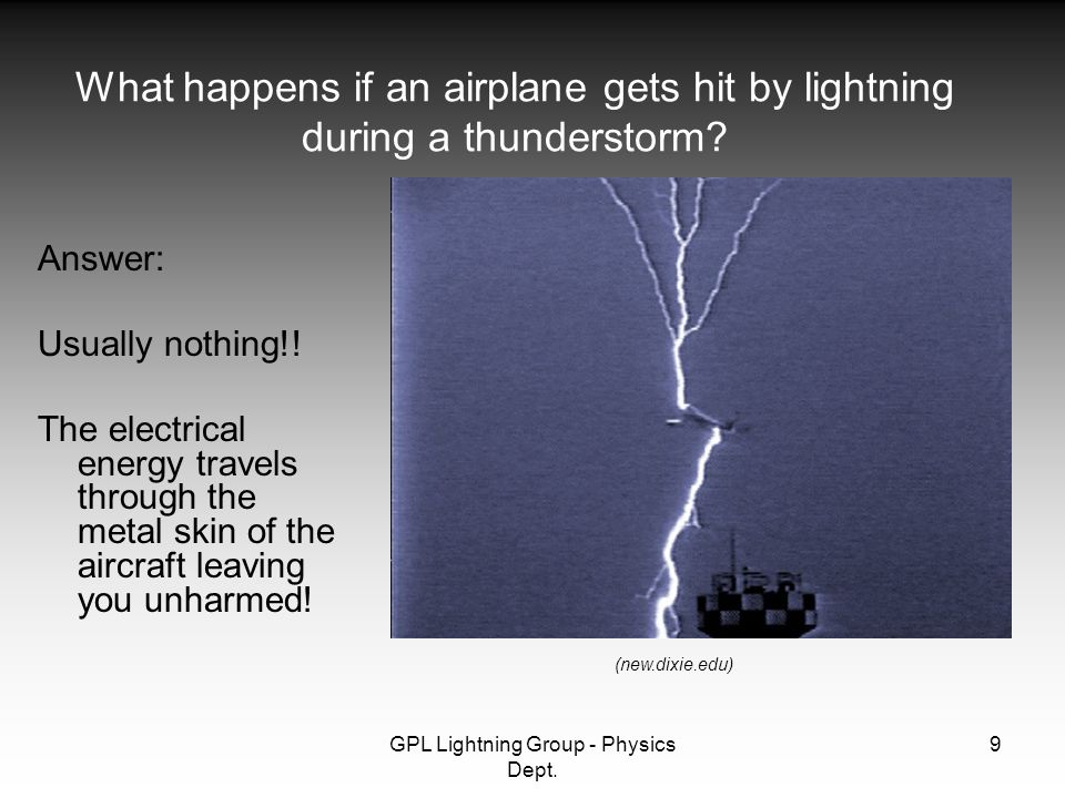 GPL Lightning Group - Physics Dept.