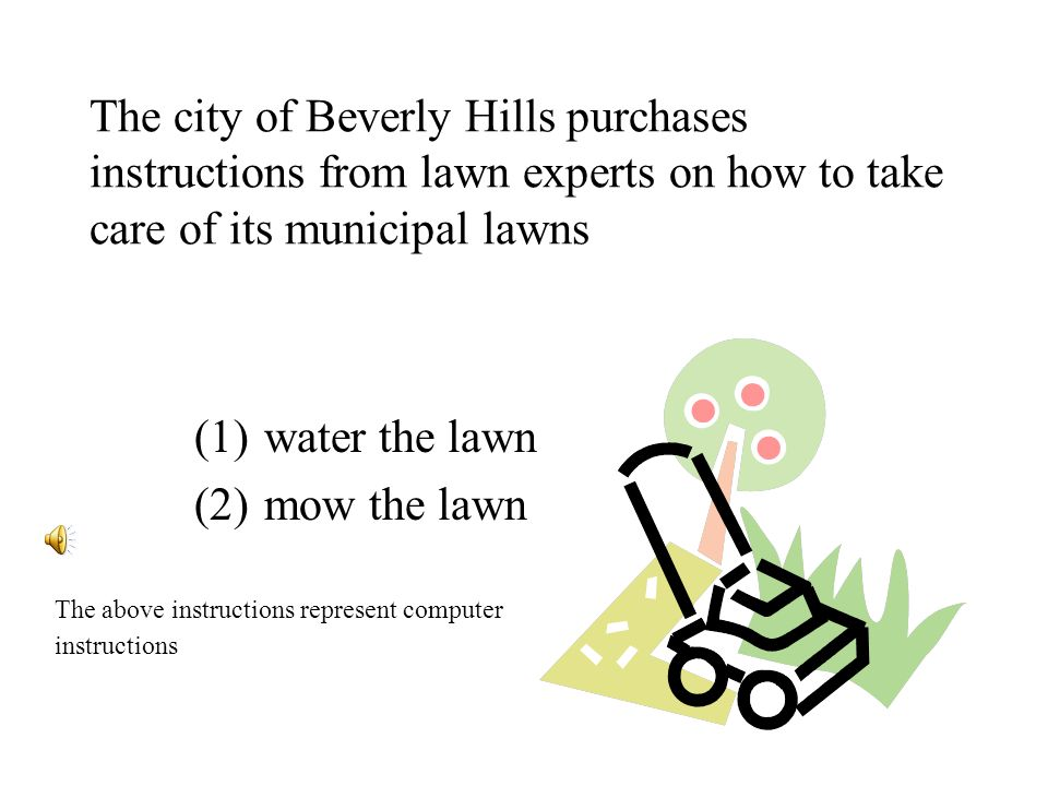 Los Angeles duplicate purchase (1)water the lawn (2)mow the lawn