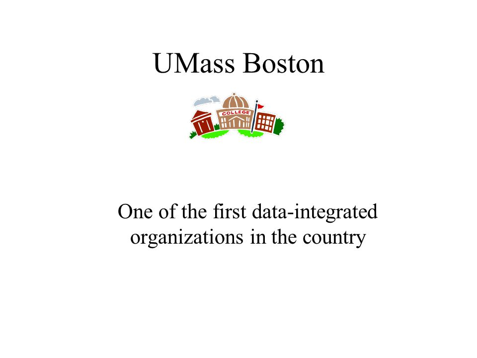 UMass Boston One of the first data-integrated organizations in the country