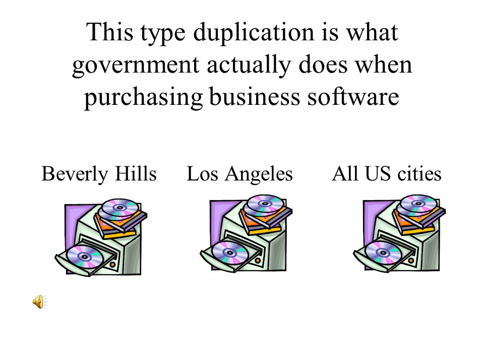 CFGIO allows for government to collectively purchase the instructions by paying for a Beverly Hills Los Angeles All US cities share a single version 1.