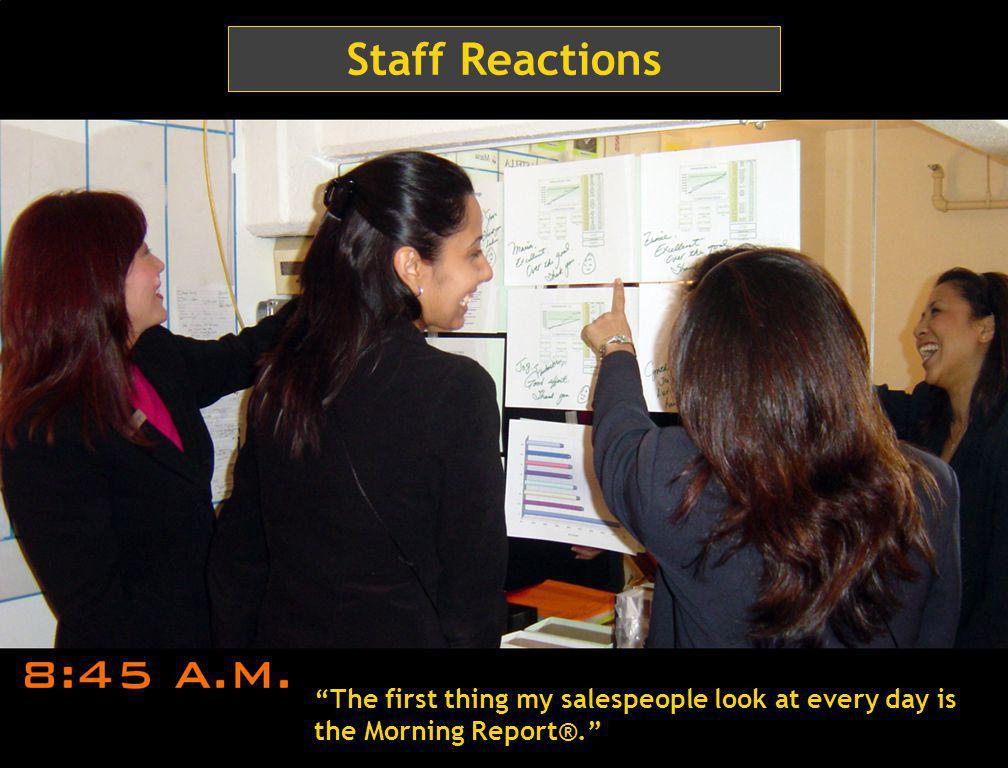 37 Manager Comments My manager posts the Morning Report® along with her fun, motivating comments.