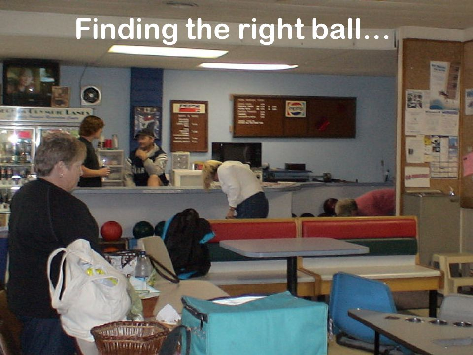 Finding the right ball…