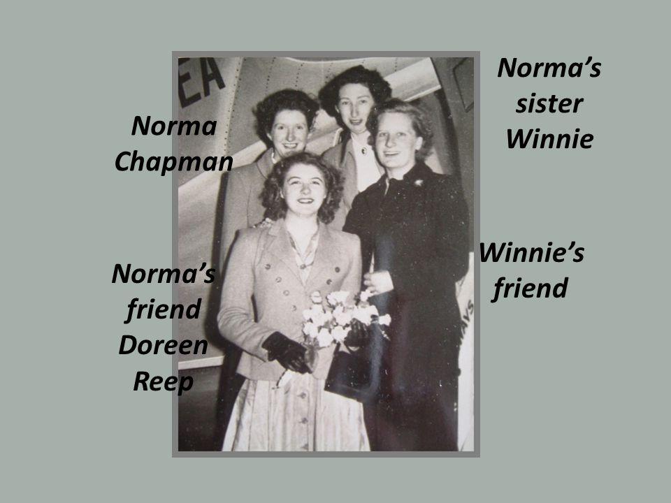 Norma Chapman Normas sister Winnie Normas friend Doreen Reep Winnies friend