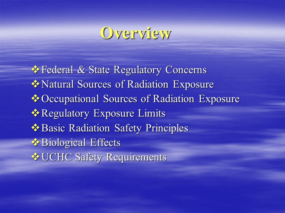 Radiation Safety Training Nuclear Medicine Technologists S taff Safety S taff Safety P atient Safety P atient Safety G eneral Safety G eneral Safety
