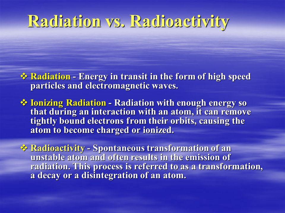 Radiation vs.