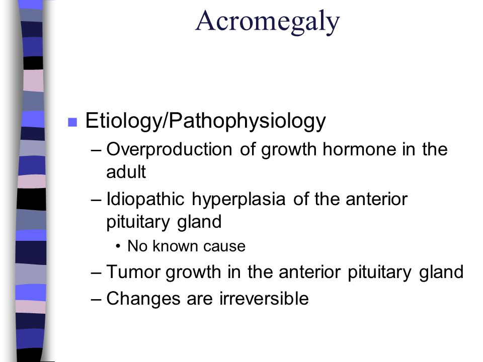 Hyperparathyroidism n Etiology/Pathophysiology –Overactivity of the parathyroid, with increased production of parthormone –Hypertrophy of one or more of the parathyroid glands Usually due to an adenoma