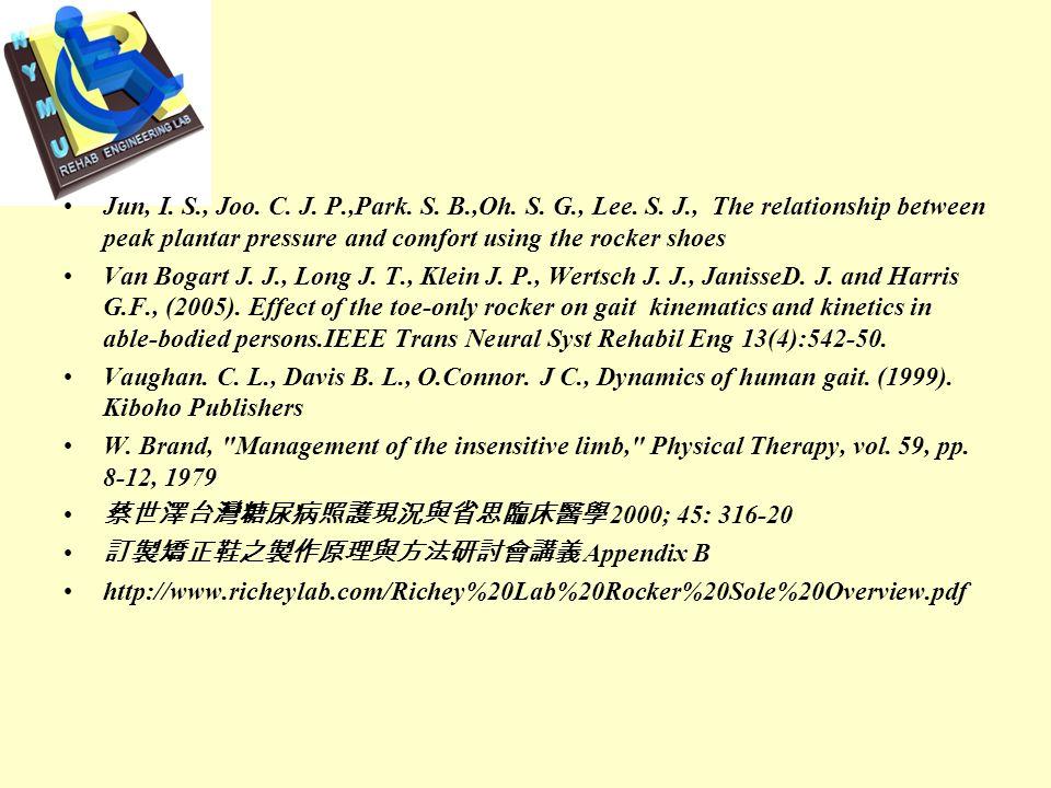 References Wu, W. L., Rosenbaum, D., Su, F. C., (2004).