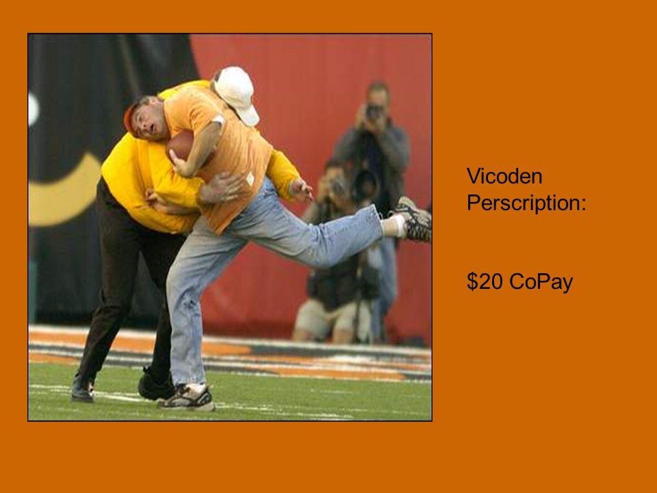 Vicoden Perscription: $20 CoPay
