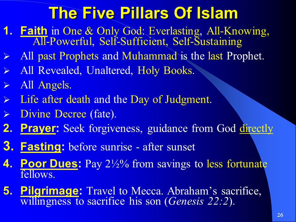 25 Islam: The Final Religion Islam - universal religion for all mankind.