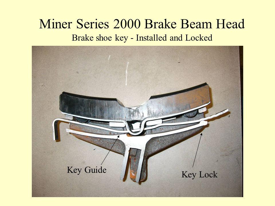 Miner Series 2000 Brake Beam Head Brake shoe key - Installed and Locked Key Lock Key Guide