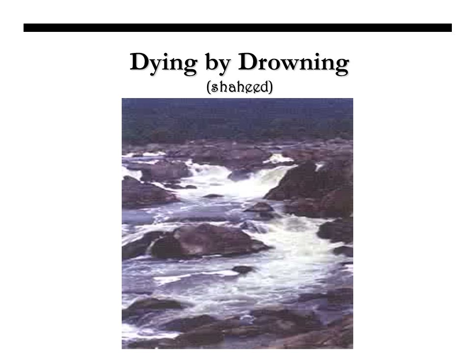 Dying by Drowning (shaheed)