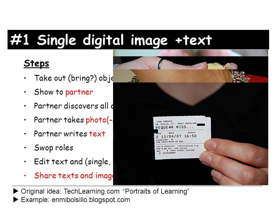 Sharing photos On camera /phone Via Windows Explorer Noticeboard in classroom Flickr.com Blog