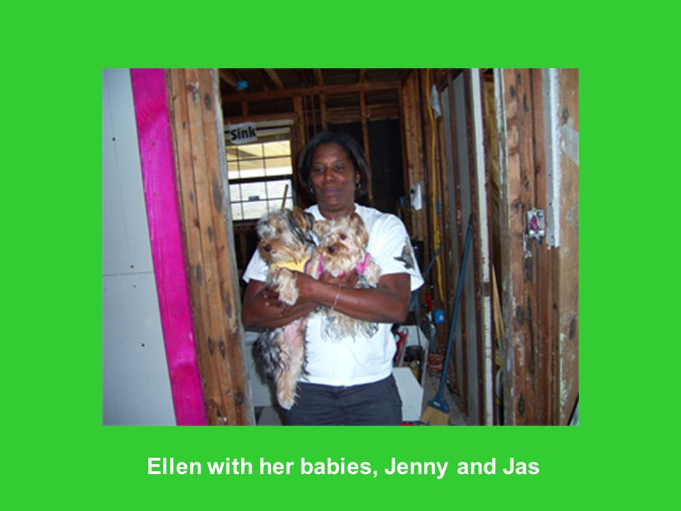 Ellen with her babies, Jenny and Jas