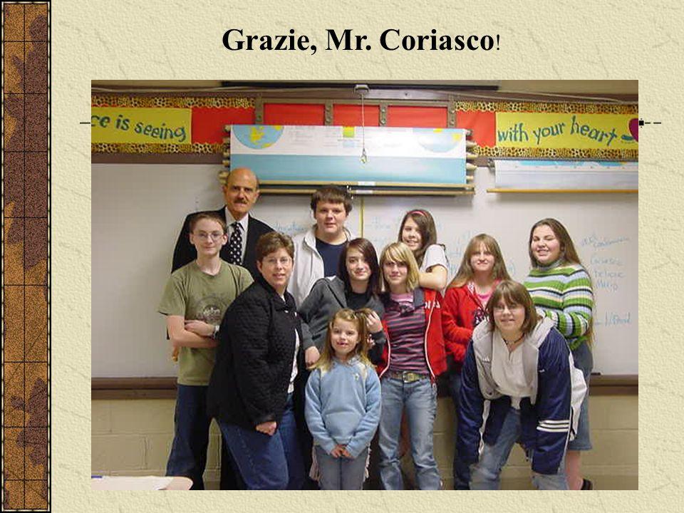 Grazie, Mr. Coriasco !