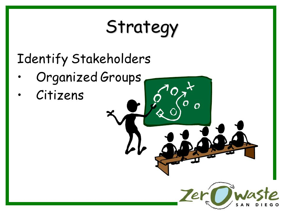 Strategy Identify Stakeholders Organized Groups Citizens