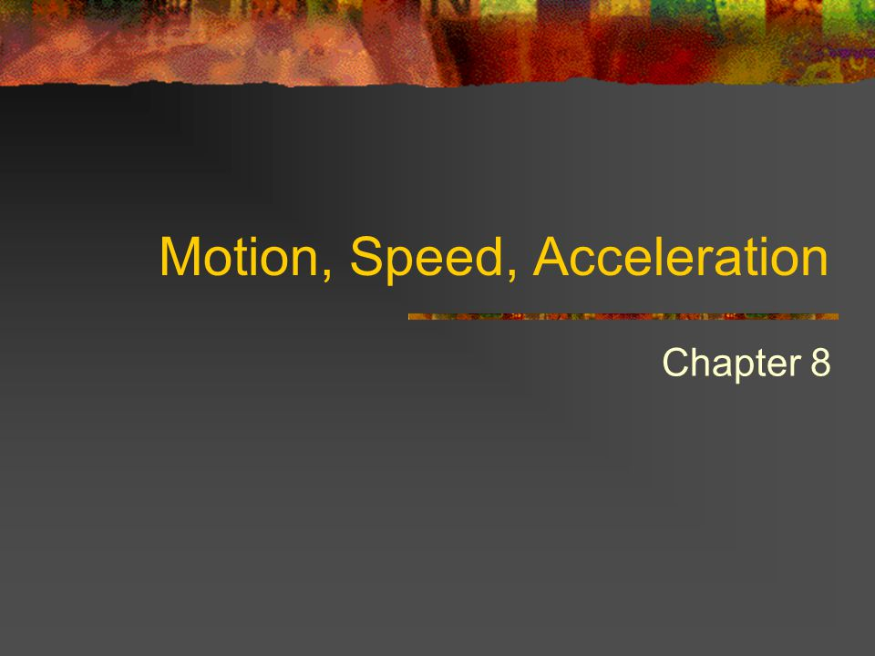 Calculating Acceleration Acceleration is the change in velocity, so you have to calculate the change.