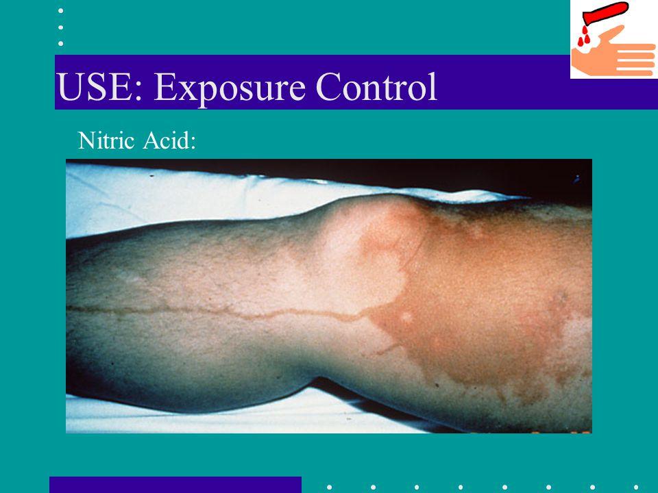 USE: Exposure Control Nitric Acid: