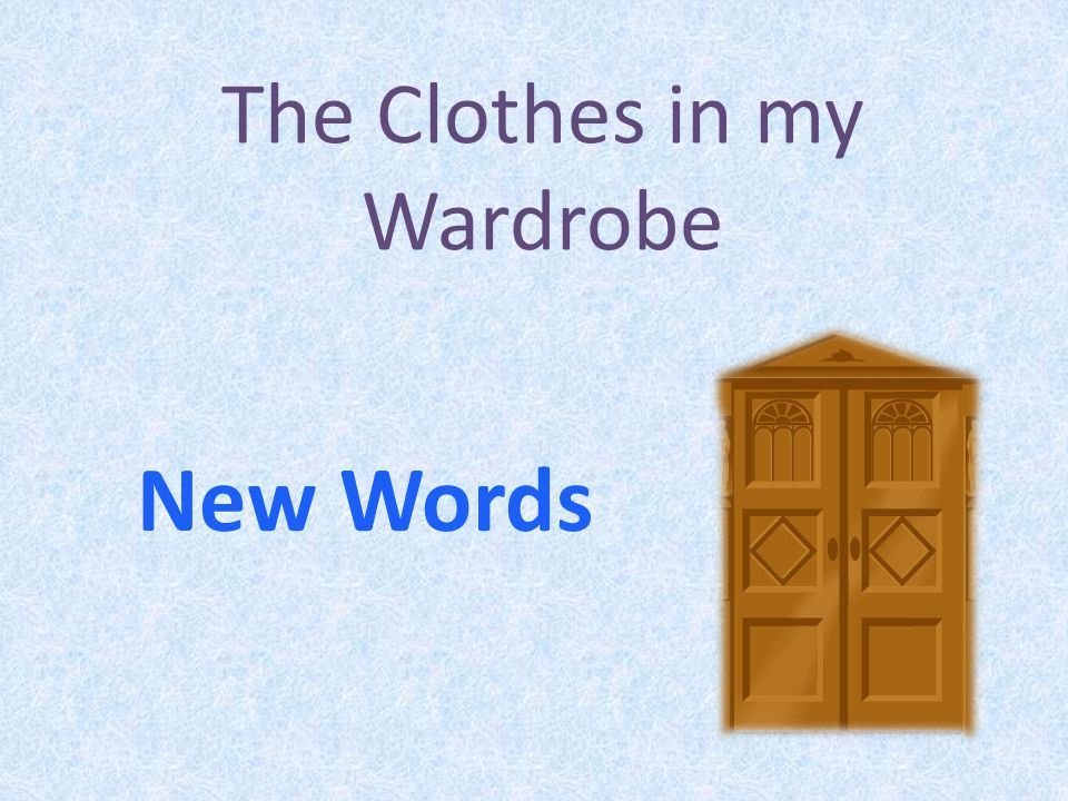 The Clothes in my Wardrobe New Words