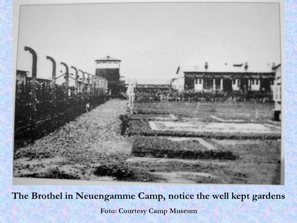 The Brothel in Neuengamme Camp, notice the well kept gardens Foto: Courtesy Camp Museum