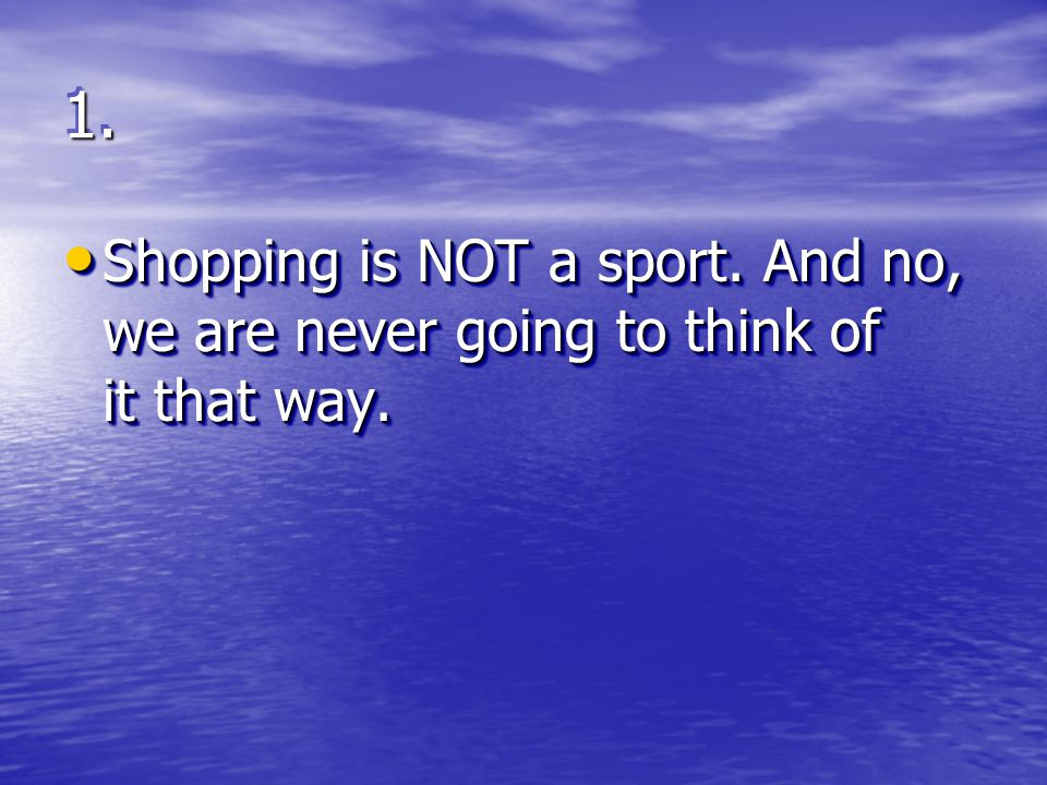 1.1. Saturday = sports. It s like the full moon or the changing of the tides.
