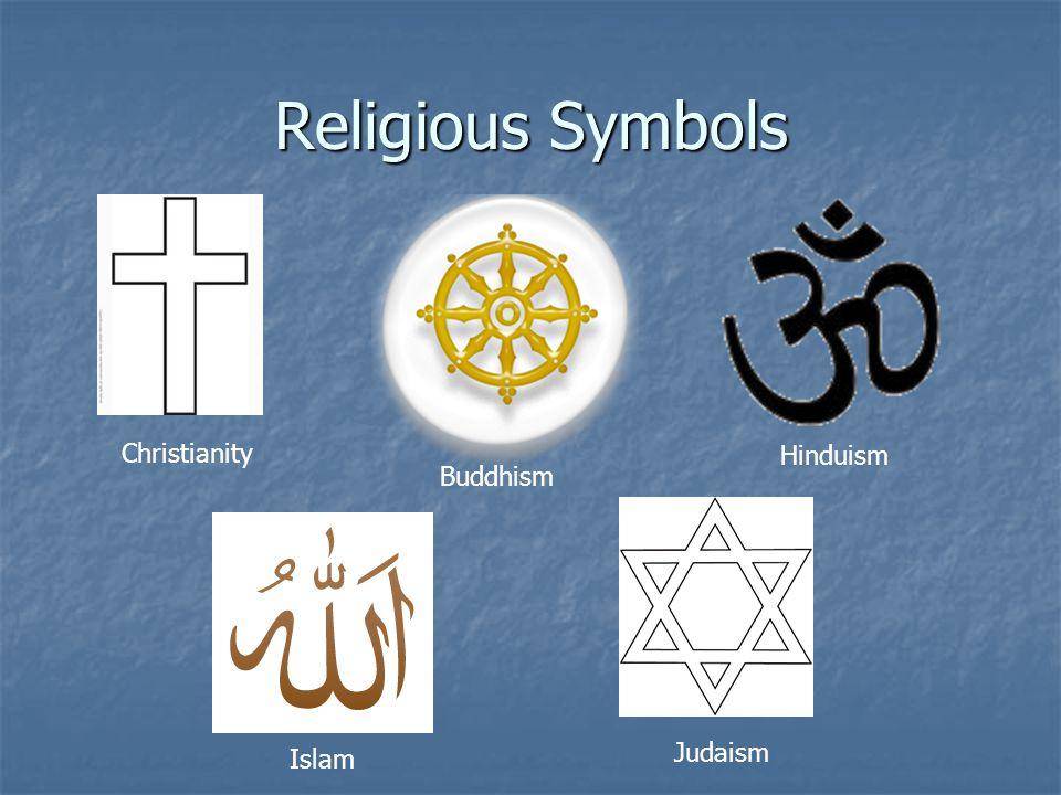 Religious Symbols Christianity Buddhism Judaism Islam Hinduism