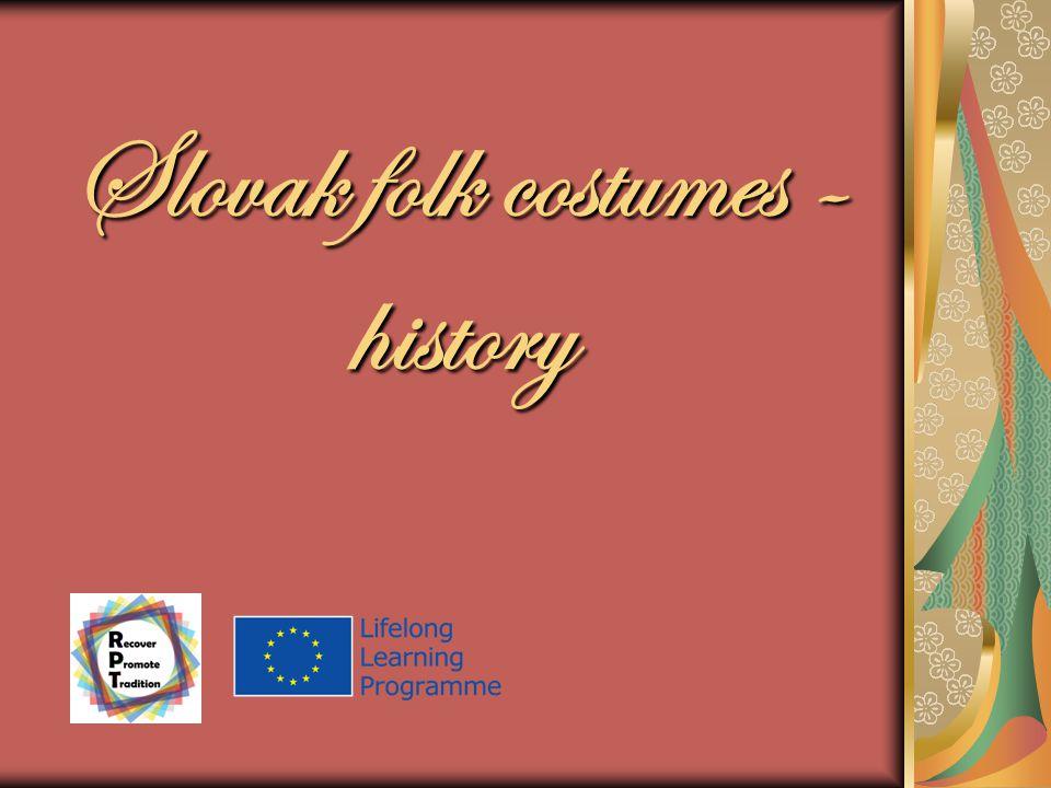 Slovak folk costumes - history