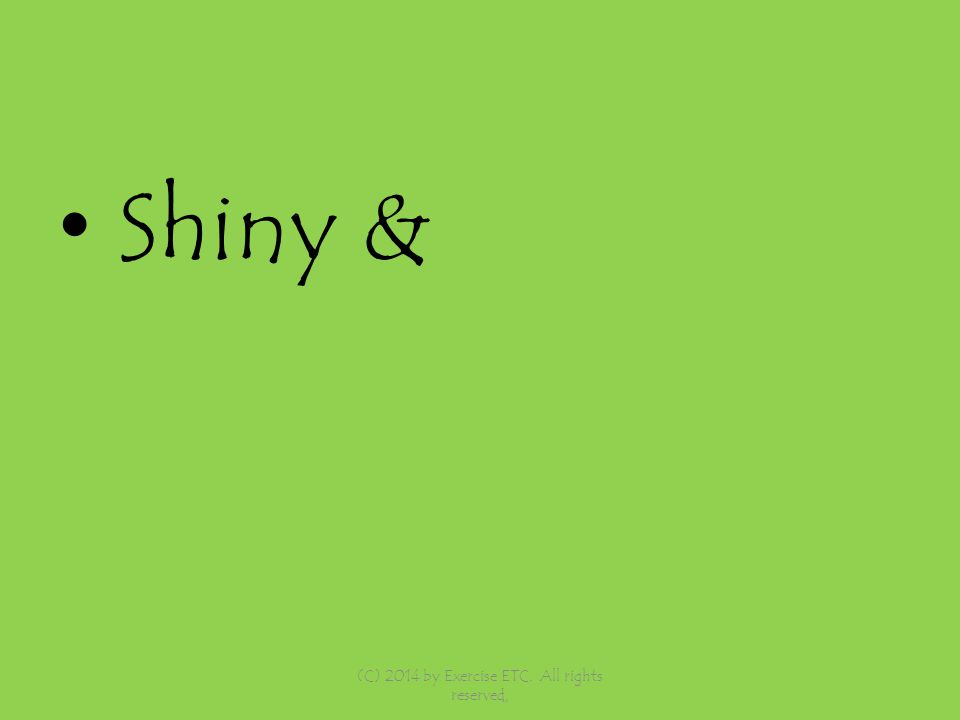 Shiny & (C) 2014 by Exercise ETC. All rights reserved,