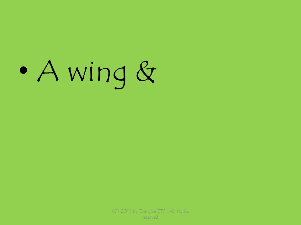 A wing & (C) 2014 by Exercise ETC. All rights reserved,