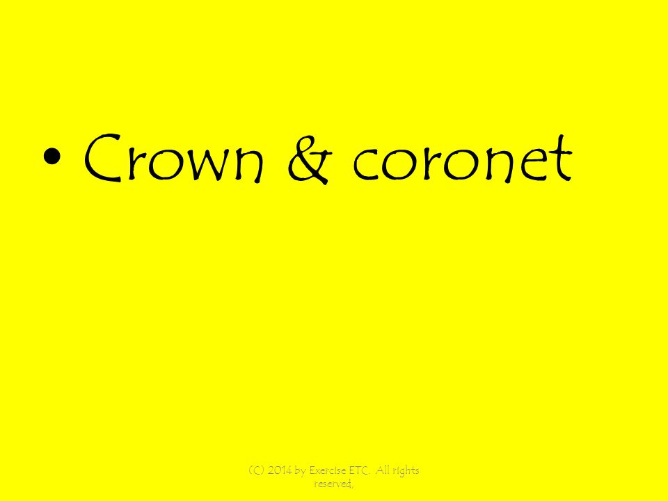 Crown & coronet (C) 2014 by Exercise ETC. All rights reserved,