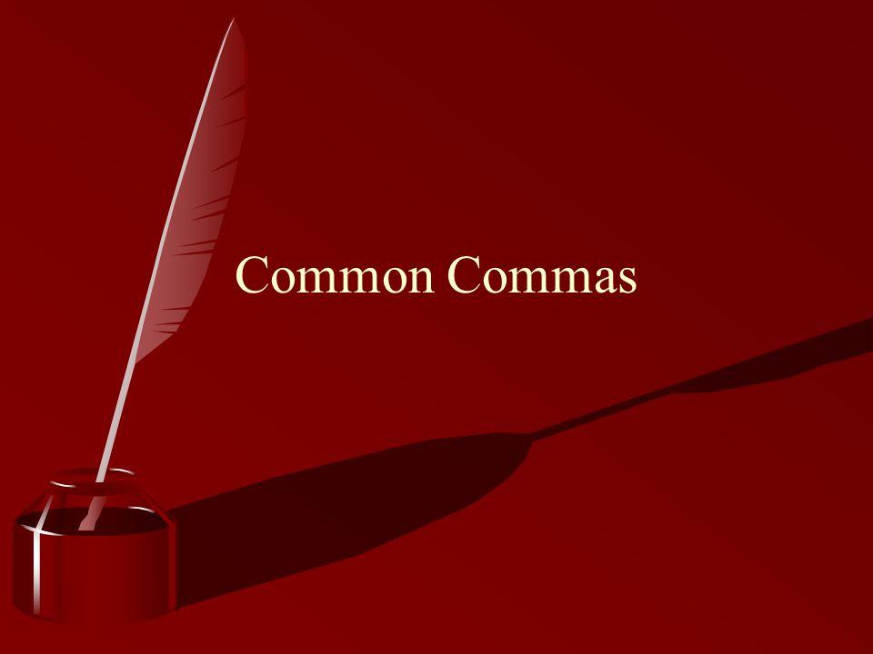 Common Commas