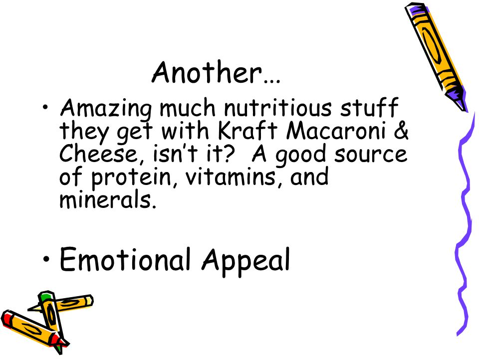Another… Amazing much nutritious stuff they get with Kraft Macaroni & Cheese, isnt it? A good source of protein, vitamins, and minerals. Emotional App