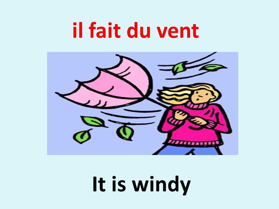 il fait du vent