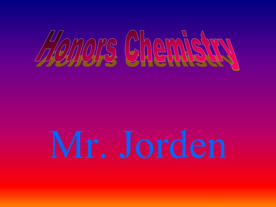 Perform only those lab activities assigned by Mr.Jorden.