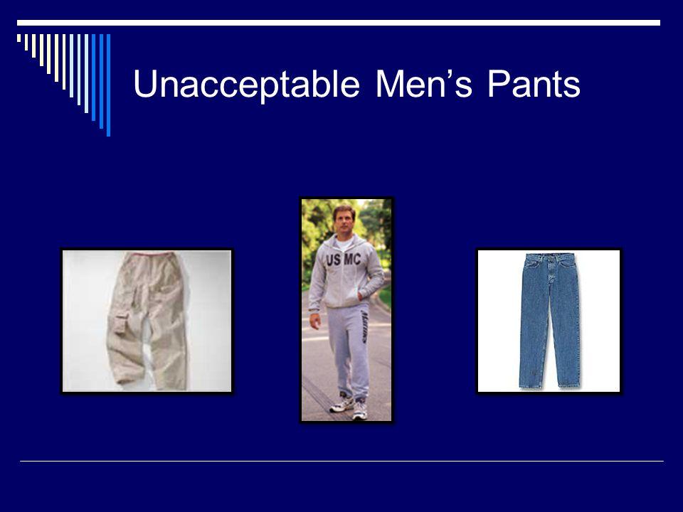 Unacceptable Mens Pants