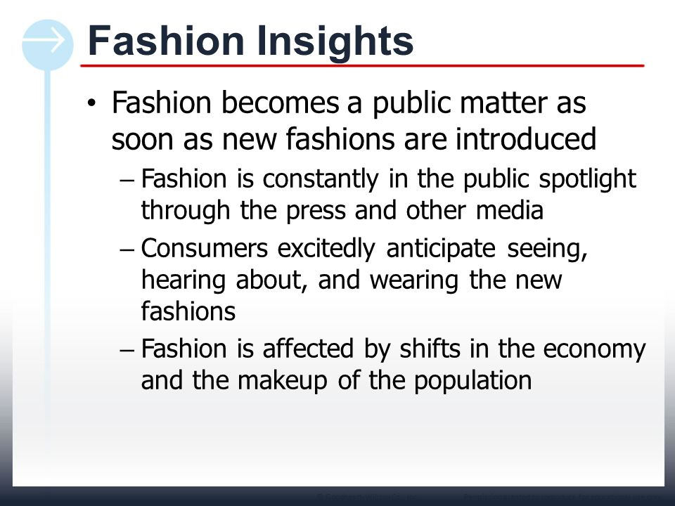 Permission granted to reproduce for educational use only.© Goodheart-Willcox Co., Inc. Fashion becomes a public matter as soon as new fashions are int