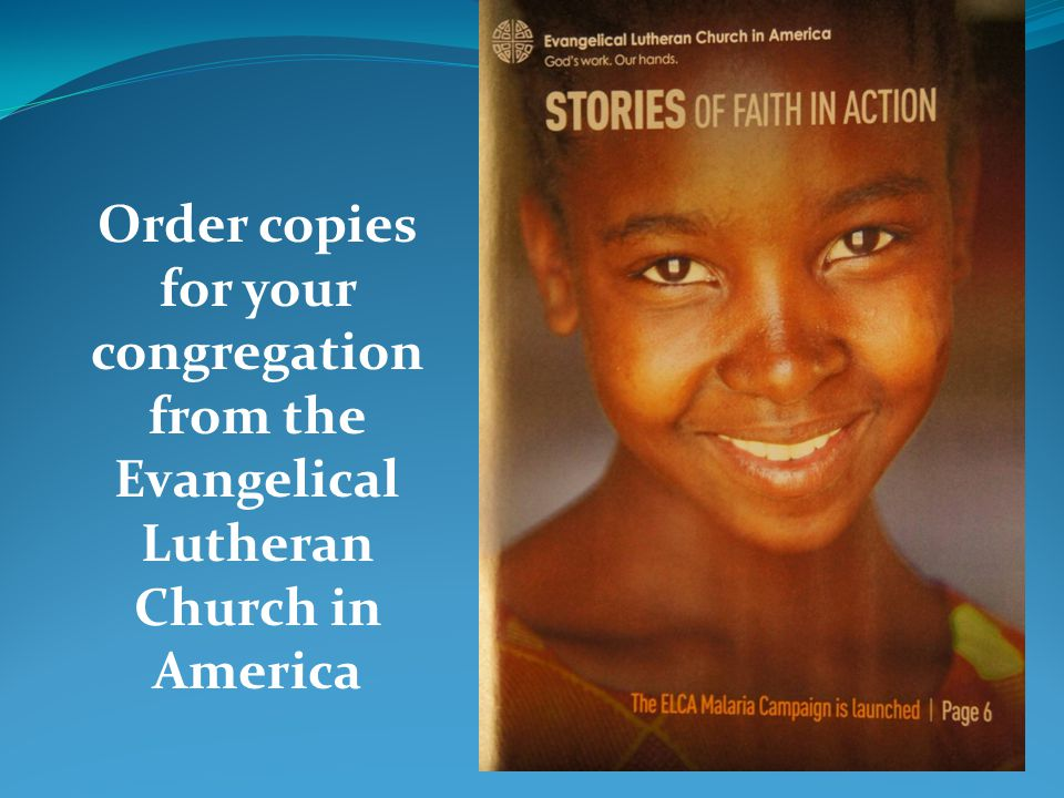 Order copies for your congregation from the Evangelical Lutheran Church in America