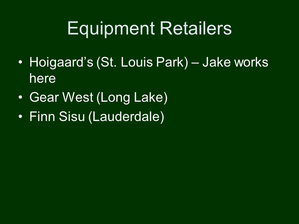 Equipment Retailers Hoigaards (St.