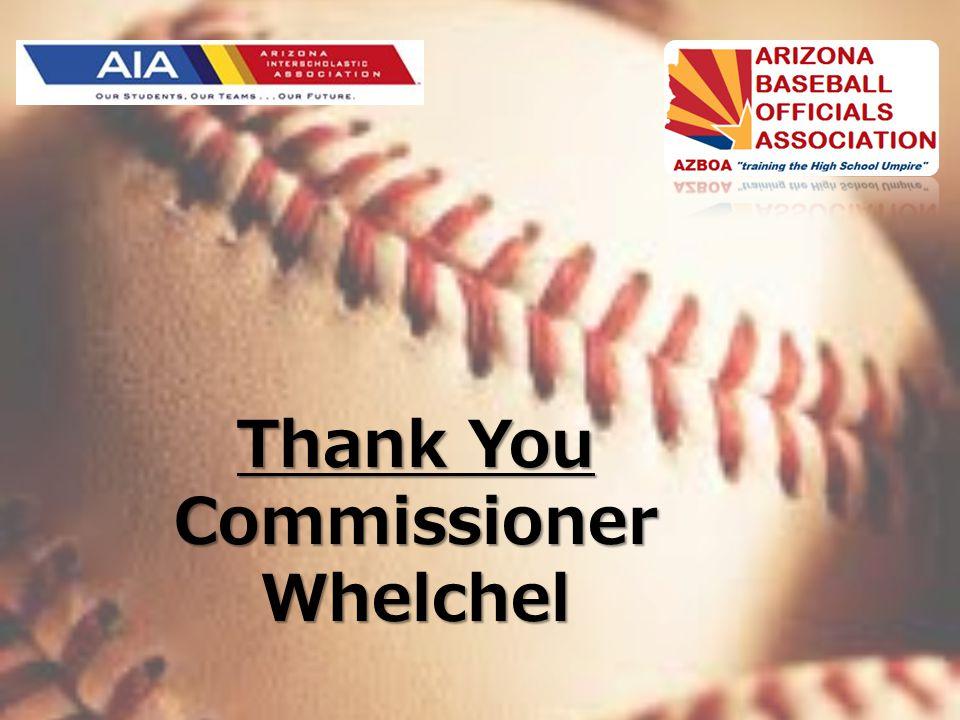 Thank You Commissioner Whelchel